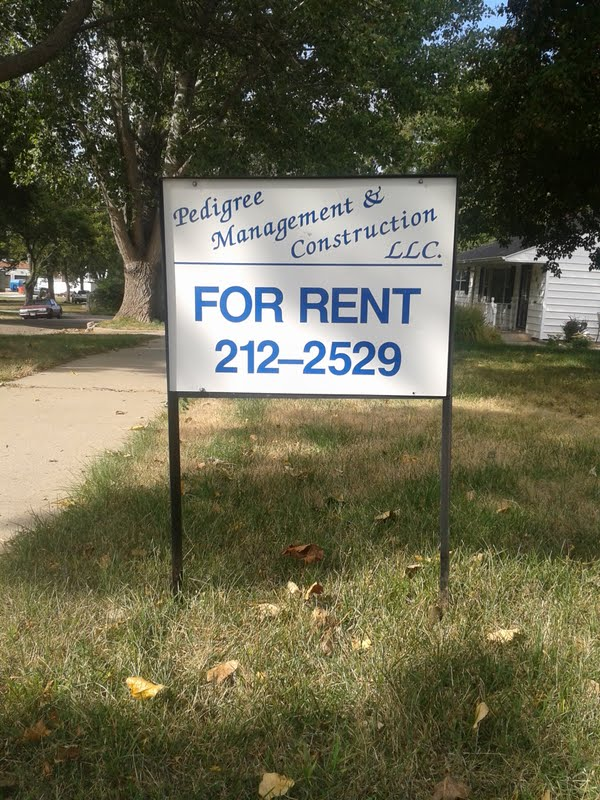PMC rent sign